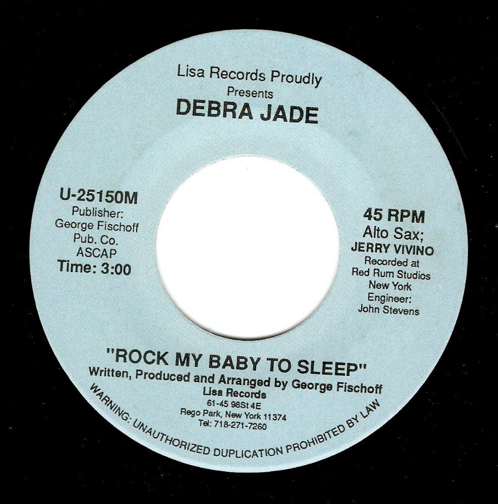 DEBRA JADE Rock My Baby To Sleep Vinyl Record 7 Inch US Lisa Promo
